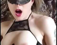 Masked wife in lingerie colic loudly Snapchat: itsbriannaboo