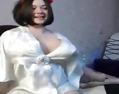 Cute Ella Busty chubby Girl Orgasm in bedroom
