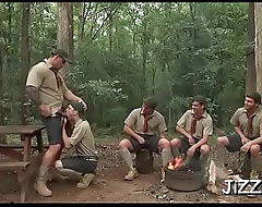 Pumped up fellows anal orgy