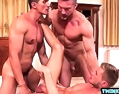 Russian son threesome and facial