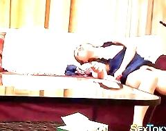 Asian babe masturbating